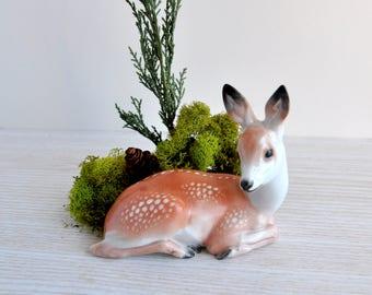 Rosenthal Porcelain Fawn Deer Doe - T KARNER Germany - Porcelain Figurine - DEER FAWN #124 - 1923 Fine china