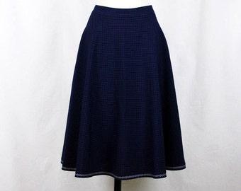 Full Cirkle Skirt Navy Blue 50s Skirt *sale*