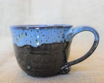 Wheel thrown pottery coffee mug, Stoneware ceramic mug, handmade pottery mug