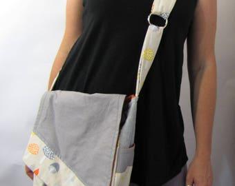 Mushroom Hippie Messenger Bag Crossbody Slant Bag