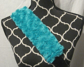 Car or Baby Car Seat Belt covers made withTurquoise Blue Minki