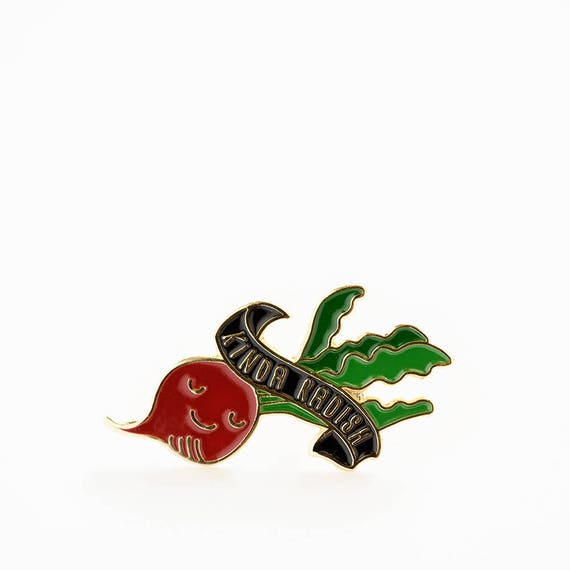Kinda Rad Radish Enamel / Lapel Pin