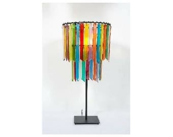 Botanica Rhapsody - Small Double Table Lamp – Glass Lamp - Tiered Lamp - Lighting - Pendant Light - Decor - Bedside Table - Colourful Lamp