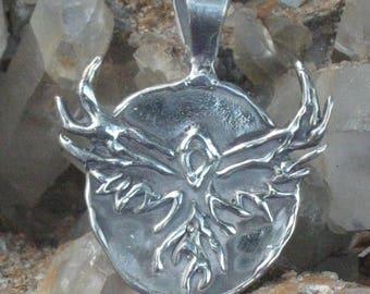 The Phoenix.. The Fire Bird of Transformation.Southwestern Jewelry.Hopi Indian Jewelry.Thunderbird Charm.