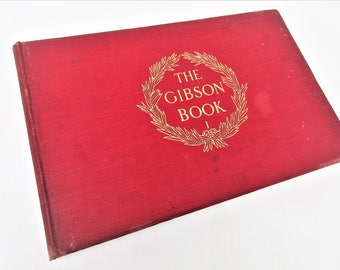 Antiquarian Book | The Gibson Book Volume 1 | Gibson Girls | Charles Gibson | Art Drawings and Illustrations