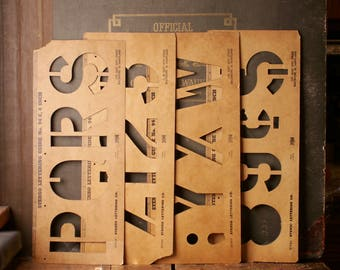 Vintage Industrial Tagboard Stencils from Stenso Lettering - Great Graphics!