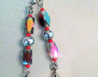 Clearance/destash Ayla's Bead Creations Fun and flirty sparkle dangle party earrings