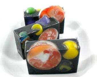 Planet Soap- Soap with Melt and Pour Planets Moons Galaxy soap
