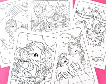 Unicorn Friends Printable Colouring Pages