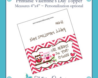 Owl Always Be Your Friend Valentine's Treat Bag Topper