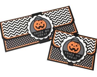 Halloween gift card holder, money holder, Halloween money card, Halloween card, trick or treat card, candy alternative, Halloween treat
