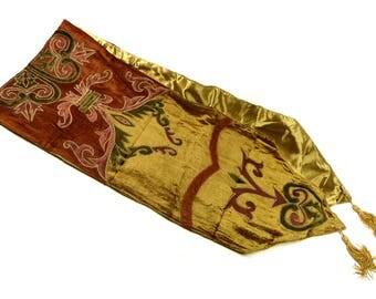 Runner Velvet Embroidered Vintage Multi Colors Beautiful Regency Design