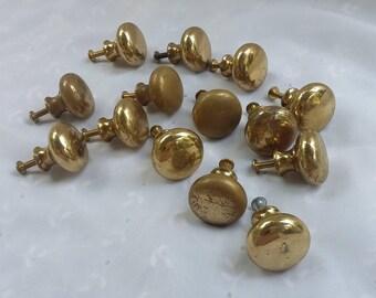 Vintage Brass Cabinet Drawer Knobs