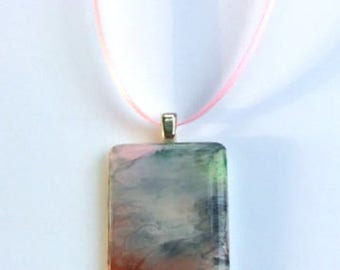 """Game tile Pendant """"Peaceful Creations"""""""