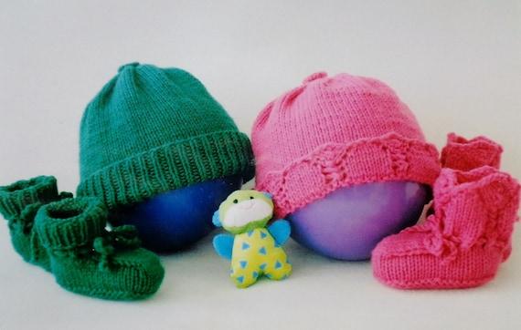 Knitting pattern baby basics fiber trends handknitting hand knitting pattern baby basics fiber trends handknitting hand knit knit hat knit booties kids child from thepamperedstitcher on etsy studio dt1010fo