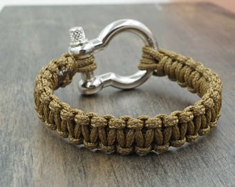 Brown Paracord Bracelet Aromatherapy Essential Oil Diffuser Bracelet