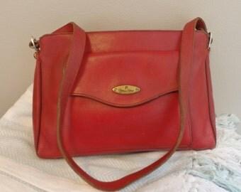 vintage 60s Etienne Aigner burnt orange leather shoulder bag Aigner Handbag