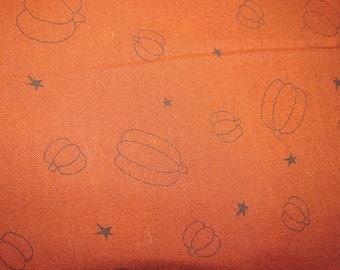 Honey and Me Burnt Orange pumpkin print fabric 1 Yard