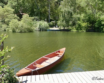 Red Canoe Photography, Still Life, River Photography, Water Photography, Travel Photography