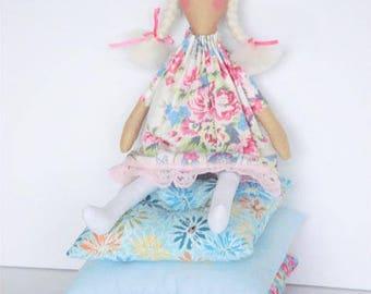 The Princess and the Pea doll play set rag doll, cloth doll fairy tale Princess doll fabric doll blonde stuffed doll nursery decor
