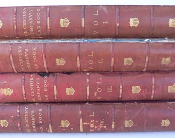 Antique Civil War books, 4 volumes, leather spines, The Century Magazine, Robert Underwood, 1888, free shipping,from Diz Has Neat Stuff