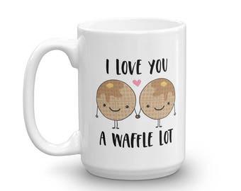 I Love You A Waffle Lot Food Pun Mug