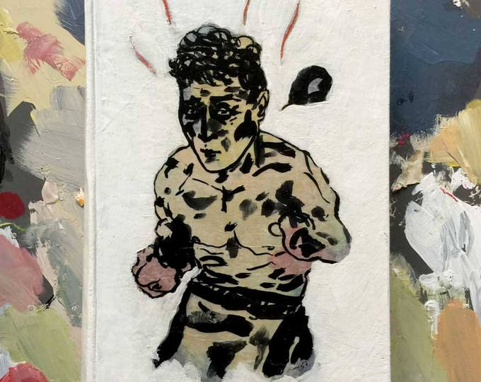 boxing is easy / book art object / art object / original art / art gift / literary gift / gift for a book lover / vintage book / home decor