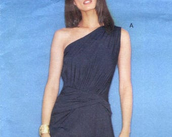 Anna Sui Mudd Club dress pattern in 2 styles for stretch knits -- Vogue American Designer 2551