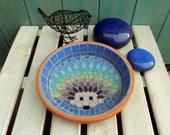Rainbow Hedgehog Water Dish Saucer Wildlife 21cm Garden Yard Decoration