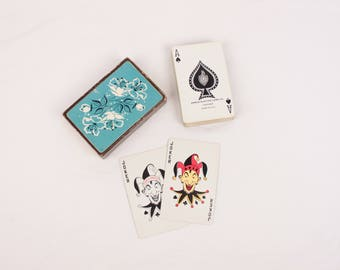 vintage Arrco playing cards // Blackstone plastic coated