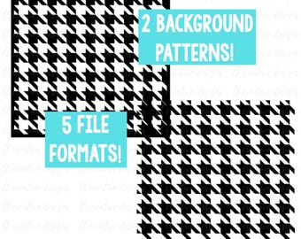 Houndstooth Background Pattern SVG, Cricut Cut Files, Silhouette Cut File, SVG Files