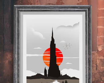 Minimalist Poster - The Dark Tower Movie Poster, Film Print, Movie Print, Film Poster Art Print Home Decor Wall Art