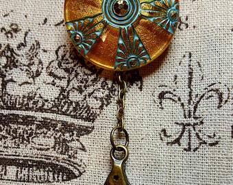 Portuguese Knitting Pin, Czech Art Glass, Chunky Yarn