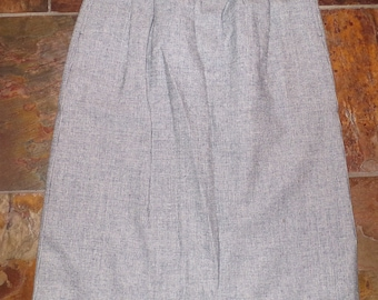 "gray and navy PENDLETON VINTAGE wool SKIRT S 27"" waist (A8)"