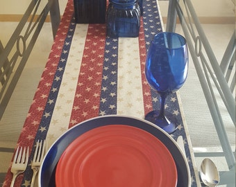 Fourth of July Table Runner, Independence Day Table Runner, Patriotic Table Runner, Americana Table Runner