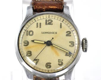 Longines WWII Military Wrist Watch with Hack Setting - Movement Caliber 12L