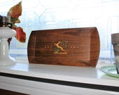 Art Deco Tray Brown Wood Grain & Gazelle Vintage 1920s Hasko Haskelite