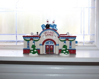 Dept 56 Snow Village 1996 Village Lanes Bowling Alley with Box 54858