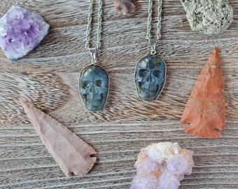 Skull Labradorite Necklace