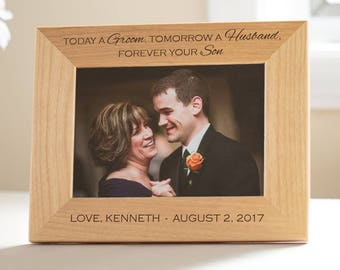 Personalized Mother of the Groom Picture Frame: Custom Engraved Mother of the Groom Gift, Wedding Gift for Parents, SHIPS FAST
