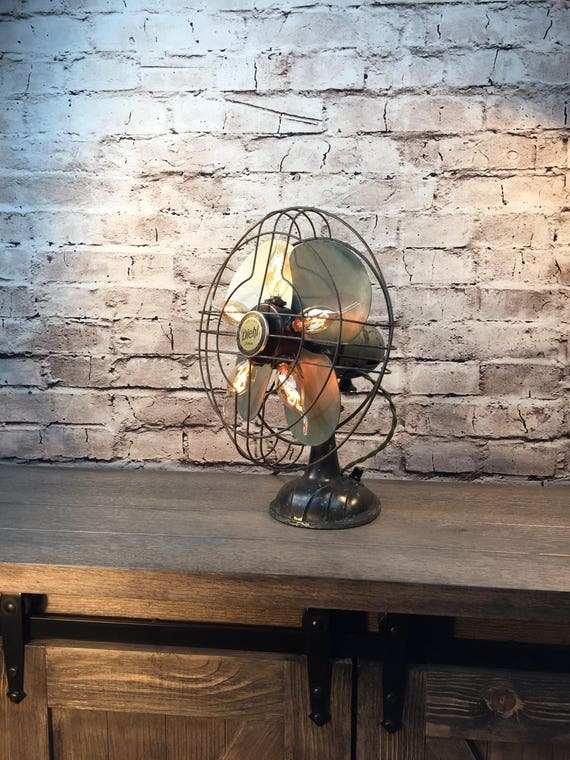 Table Lighting Vintage Electric Fan Lamp