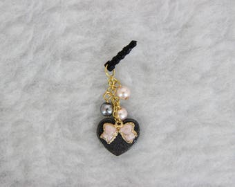 Bow and Heart Dust Plug with Pearls