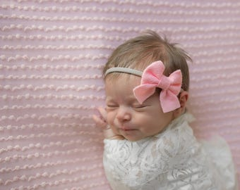 Baby Headband, Sailor Bow, Baby Girl Bow, Newborn Headband, Baby Girl Headband, Baby Bows, Newborn, Baby Hair Bow, Felt Bow, Girls Hair Clip