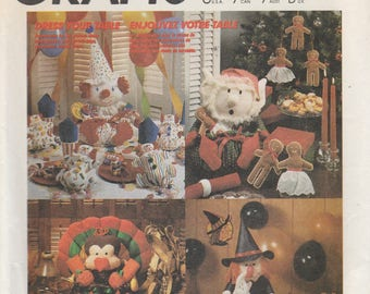 Holiday Table Accessories Pattern McCalls 3367 Uncut