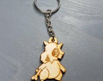 Pokemon Cubone Keychain | Laser Cut Jewelry | Wood Accessories
