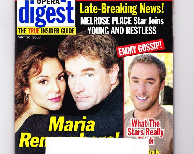 Soap Opera Digest Magazine May 20 2003, with Young and the Restless, Bold and the Beautiful, All My Children, GH