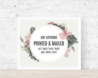 PHYSICAL PRINT - Any art in my store
