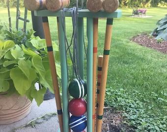 Vintage Croquet set for four players