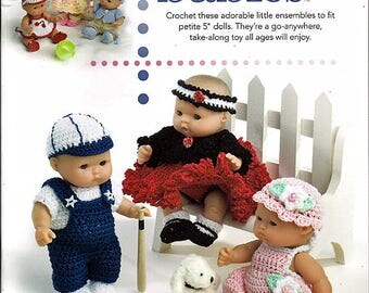 "Itty Bitty Babies Crochet Patterns to fit 5"" Baby Dolls - Annie's Attic 879516"