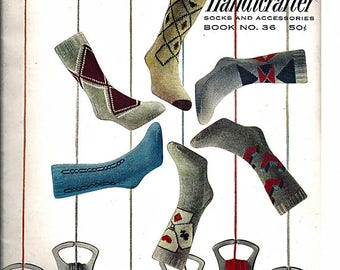 Bernat Handicrafter Socks and Accessories Book No 36Knit Pattern Book Froehlich Wolle Socks Patterns